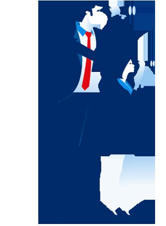 2 suchende Personen, illustriert