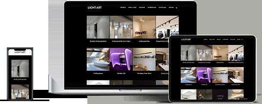 Website Lichtart GmbH